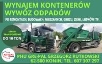 PHU GRE-PAL Oferujemy: - wynajem kontenerów - wywóz odpadów