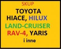 Kupię TOYOTA Hiace,Hilux,Land-Cruiser,Rav-4,Yari i inne