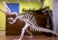 drewniany szkielet dinozaura - puzzle 3D
