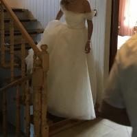 Suknia ślubna rozm.36, welon, tren, peleryna
