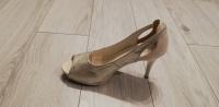 Złote buty bez palców damskie