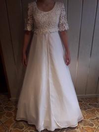Suknia ślubna rozm.36/38 GRATIS bolertko i welon