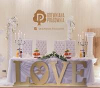 Drewniany rustykalny napis LOVE - tylko 150 zł