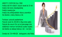 Kredyty dla firm do 50 milionów cała Polska