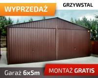 Garaż blaszany dwustanowiskowy mocna konstrukcja z profili