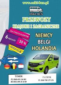 PRZEWÓZ OSÓB - NIEMCY , BELGIA, HOLANDIA