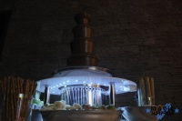 fontanna czekoladowa+ podest podświetlany