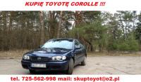 Kupię Toyotę Avensis I lub II tel 725 562 998 (sieć Plus) Sk