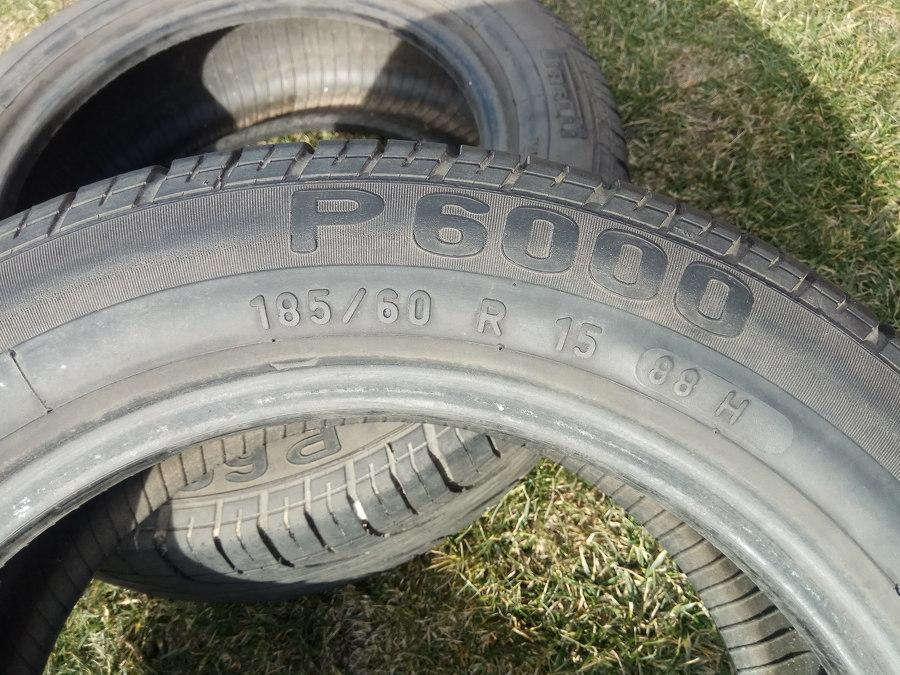 Ogłoszenie Opony Letnie 185 60 R15 Pirelli P6000 Bieżnik 65mm 80