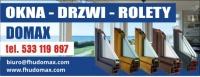 FHU DOMAX- OKNA,DRZWI,ROLETY