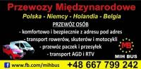 Przewóz osób.. Bus 9 osób -Niemcy Holandia Belgia