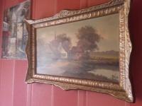 Obraz olejny-ręcznie malowany- Stary duży