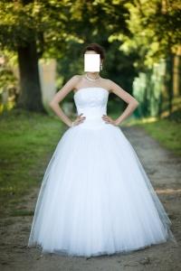 Suknia ślubna Księżniczka Rozmiar 36/38 Welon i halka gratis