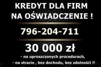 KREDYT dla FIRM na OŚWIADCZENIE! 30 000 zł