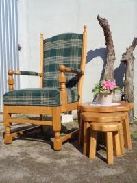 fotel tron dębowy - meble holenderskie U Tomka, Mielnica