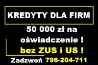 KREDYT dla FIRM – 50 000 ZŁ NA OŚWIADCZENIE !