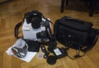 Canon EOS 550d + karty + torba