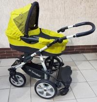 Wózek 2w1 Xlander XA spacerówka i gondola,podnóżek,parasolka