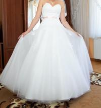 Sprzedam suknię ślubną z NOWYM trenem i dodatkami