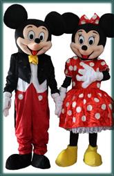 Animacje animator dla dzieci duze chodzace maskotki Mickey i