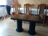 Ława, stolik z kamienia (własnoręcznie robiona)