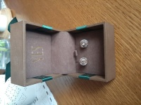 Sprzedam kolczyki srebrne CANDY z kryształem Swarovski