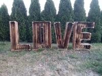 Drewniane LOVE Napis drewniany litery skrzynka drewniana