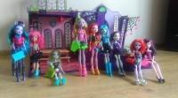 Sprzedam 9 lalek Monster High +akcesoria+szkoła