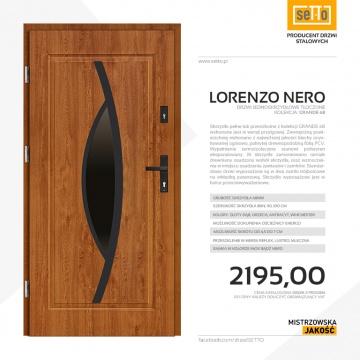 Drzwi wejściowe stalowe SETTO model LORENZO 68