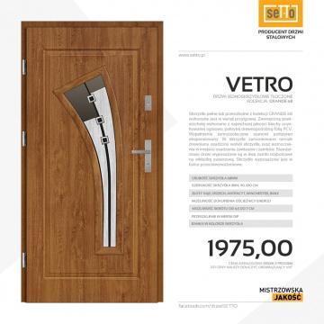 Drzwi wejściowe stalowe SETTO model VETRO 68 DIP