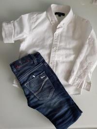 Koszula i spodnie jeansowe dla chłopca 86/92