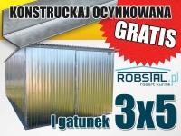 Garaż blaszany blaszak konstrukcja ocynk GRATIS montaż