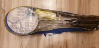 Zestaw do badmintona 4 rakietki siatka 2 lotki