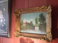 Sprzedam obraz bardzo stary olejny piękna rama