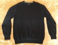 NOWY Sweter męski WÓLCZANKA 100% wełna (rozmiar L/XL) CZARNY
