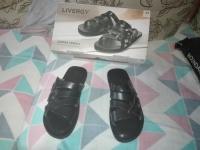 Sandały męskie czarne z skóry nowe