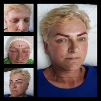 Makijaż permanentny brwi metodą włosa oraz ombre