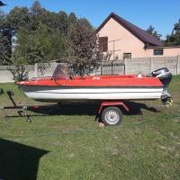 Motorówka łódka 4m bez patenu,,silnik suzuki 15''km''