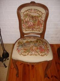Krzesło ludwik gobelin