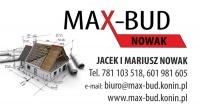 MAX-BUD WYKONCZENIA WNETRZ,REMONTY   781103518,601981605