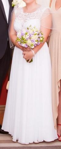 Suknia ślubna prosta rozmiar ok. 40
