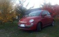 Fiat500 do sesji zdjęciowej lub na wesele