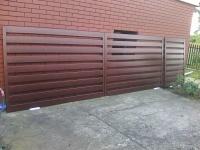 Brama z furtką , ocynkowana i pomalowana