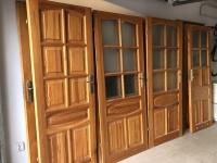 Drzwi wewnętrzne drewniane, używane, 6 szt. Polecam