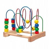 IKEA Mula Zabawka edukacyjna przekładanka drewno