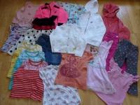 Ubranka dla dziewczynki wiek 3-5 lat,  ok.70 sztuk