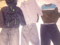Zimowe dla chłopca 6-7 lat 116-128 6 szt. w tym kurtka