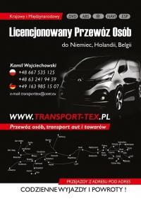 Transport Tex Busy Niemcy, Holandia, Belgia.