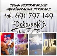 Usługa dekoratorska ślyb, wesele, 18-stka