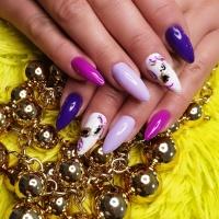 Manicure żelowy / hybrydowy / TYTANOWY
